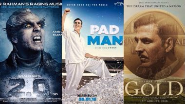 Akshay Kumar Upcoming Movies' List: 2.0, Padman, Gold and Other Future Releases of Box Office Khiladi