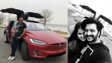 Riteish Deshmukh is Proud Owner of Tesla X Courtesy Wifey Genelia D'Souza