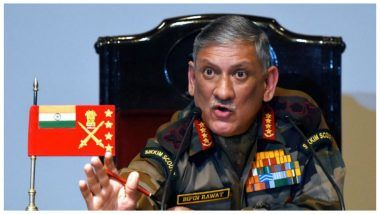 'Talks and Terror Can't Go Hand-in-Hand': Army Chief Gen Bipin Rawat on India Calling Off Meet With Pakistan