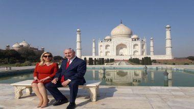 Israeli Prime Minister Benjamin Netanyahu Visits Taj Mahal With Wife Sara