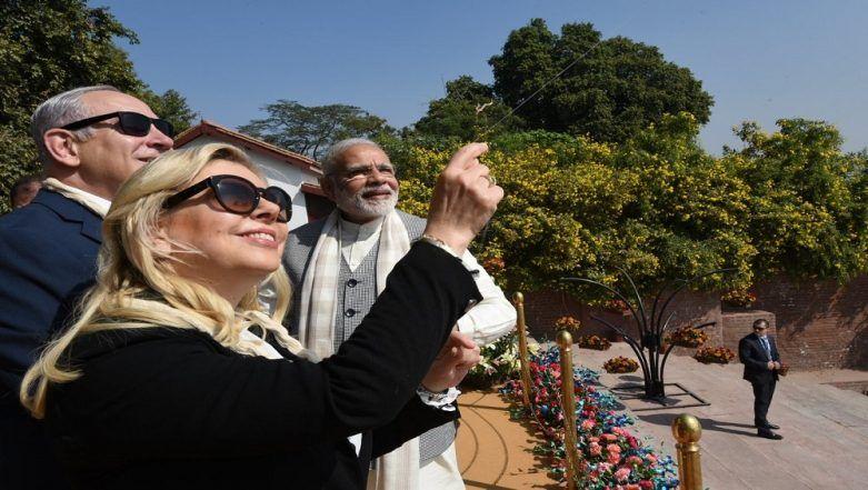 Narendra Modi Introduces Benjamin Netanyahu And Sara to Kite-Flying: Indian PM Gives a Quick Lesson at Ahmedabad