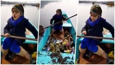 Little Kashmiri Girl Cleaning the Dal Lake Wins Over PM Narendra Modi's Heart, Shares Video on Twitter as Fine Example of Swachh Bharat Abhiyan