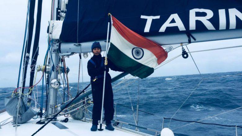 INSV Tarini Makes India Proud, Crosses Cape Horn: Six-Woman Tarini Team Hoist Indian National Flag (See Pictures & Video)