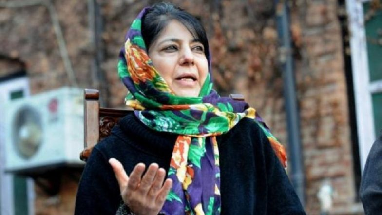 Centre's Talks Offer Golden Chance to End Kashmir Row: Mehbooba Mufti