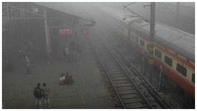 Delhi Winters: Dense Fog Envelops National Capital, 11 Trains Delayed, Flight Services Hit Due to Low Visibility