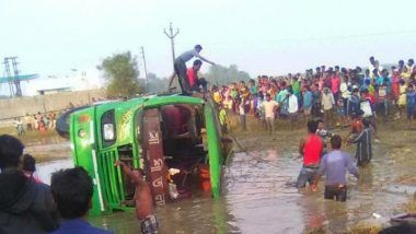 7 Killed as Bus Plunges into Canal in West Bengal's Murshidabad