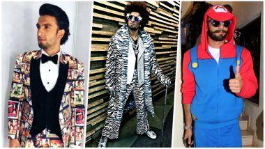Ranveer Singh Wears 'Tribute to Bollywood' Suit at Filmfare