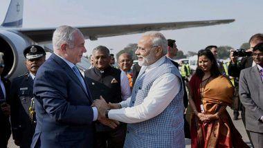 Benjamin Netanyahu Reaches Gujarat: To Hold Road Show in Ahmedabad With PM Narendra Modi
