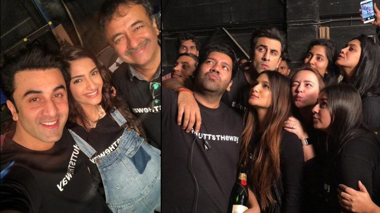 Dutt Biopic Wrap Up Inside Pics: Ranbir Kapoor, Sonam Kapoor and Crew Celebrating the Last day Leaves us Excited