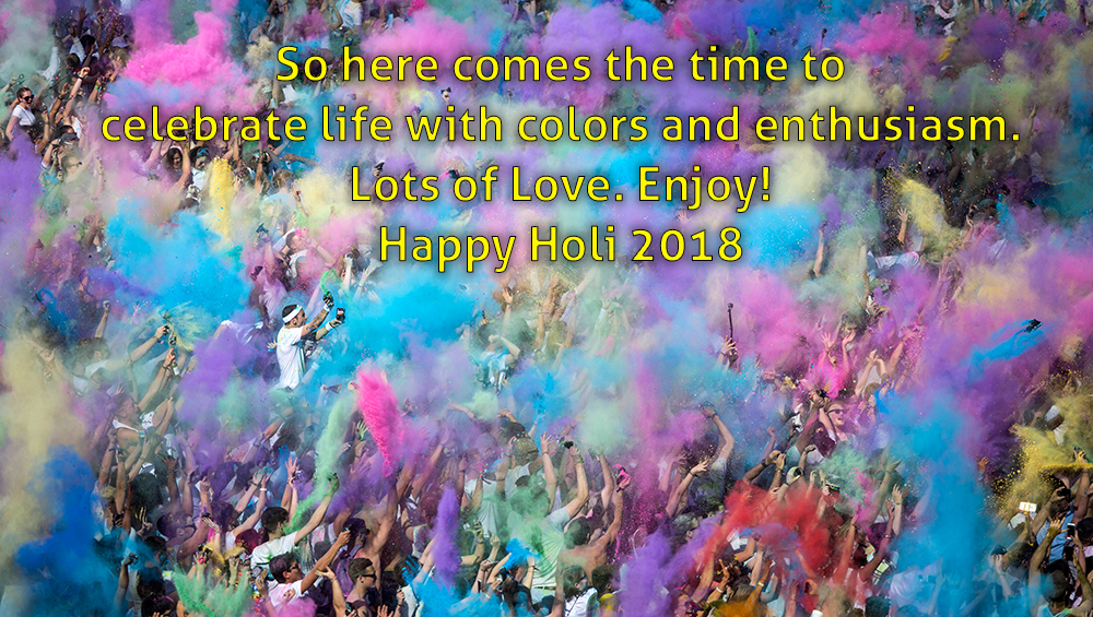 Happy Holi 2018 Wishes SMS Images Whatsapp Facebook 1st March 2018