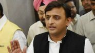 Unnao Rape Survivor Death: Akhilesh Yadav Sits on Dharna Outside UP Assembly, Demands Resignation of Yogi Adityanath