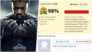 Black Panther Rotten Tomatoes Score was 100% 'Fresh': Read Two Bad Movie Reviews Which Hurt Perfect Ratings