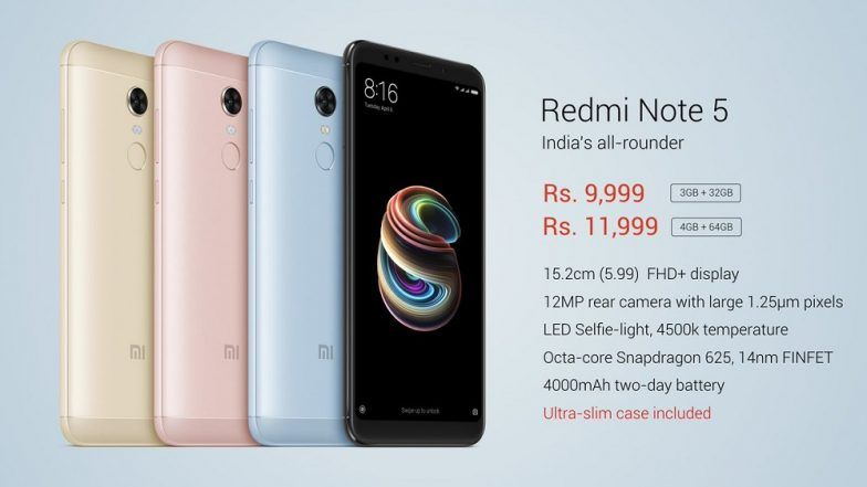Xiaomi Launches Redmi Note 5, Redmi Note 5 Pro in India: Price, Specifications and More