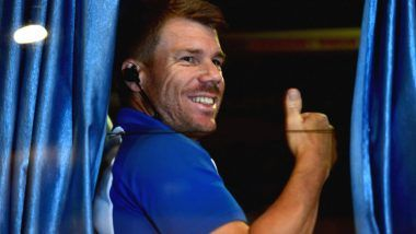 David Warner Uses Tennis Ball to Hone His Catching Skills Amid Self-Isolation Due to COVID-19 Pandemic (Watch Video)