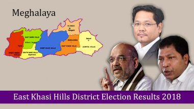 Meghalaya – East Khasi Hills District Election Results 2018: Who is Winning From East Shillong, Mawkynrew, Mawlai & Mawphlang Assembly Constituencies?