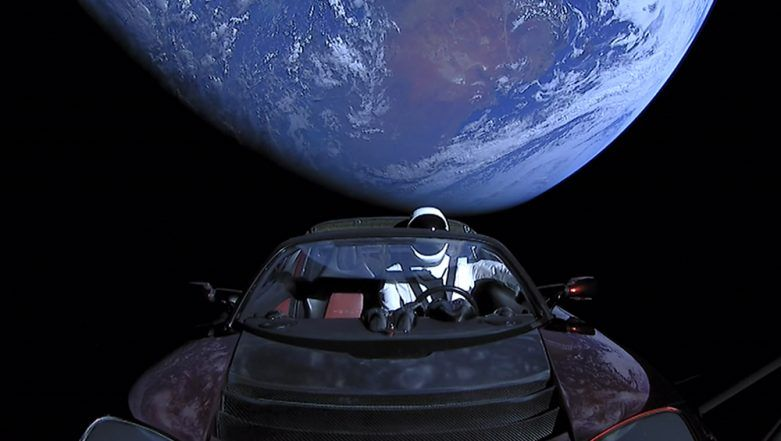 Check Where Exactly is Elon Musk's Red Tesla Roadster in Space, when it will fall on Earth With the Help of Whereisroadster.com