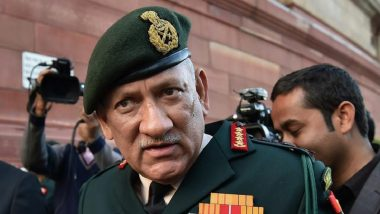 Imposition of Governor's Rule in Jammu & Kashmir Won't Affect Operations: Army Chief Gen Bipin Rawat