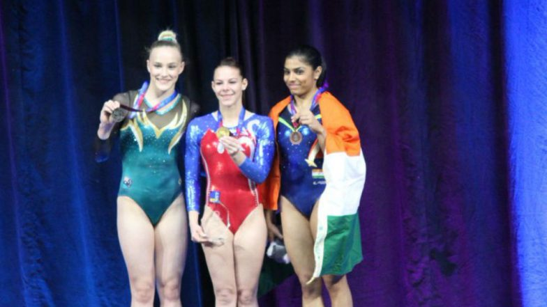 Gymnast Aruna vaults into history