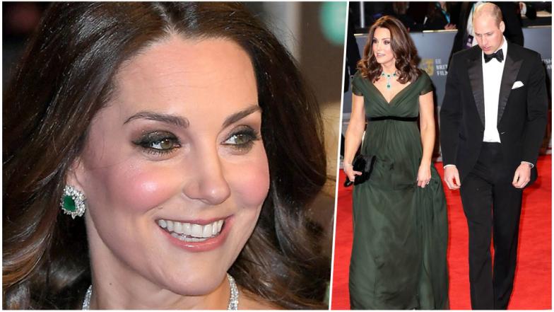 Kate Middleton Defies BAFTA Film Awards 2018's 'Time's Up' Dress Code