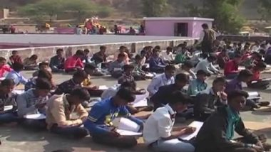 Madhya Pradesh: Students in Tikamgarh Govt School Forced To Write Exams on Rooftop Amid Dance & Music Festival