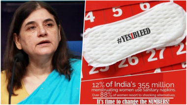 Maneka Gandhi to Launch #YesIBleed Menstrual Hygiene Campaign on February 20