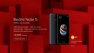 Redmi Note 5 and Note 5 Pro Goes For Sale At 12 Today: How to Get Similar Mobile Phone Models If You Miss Online Sale