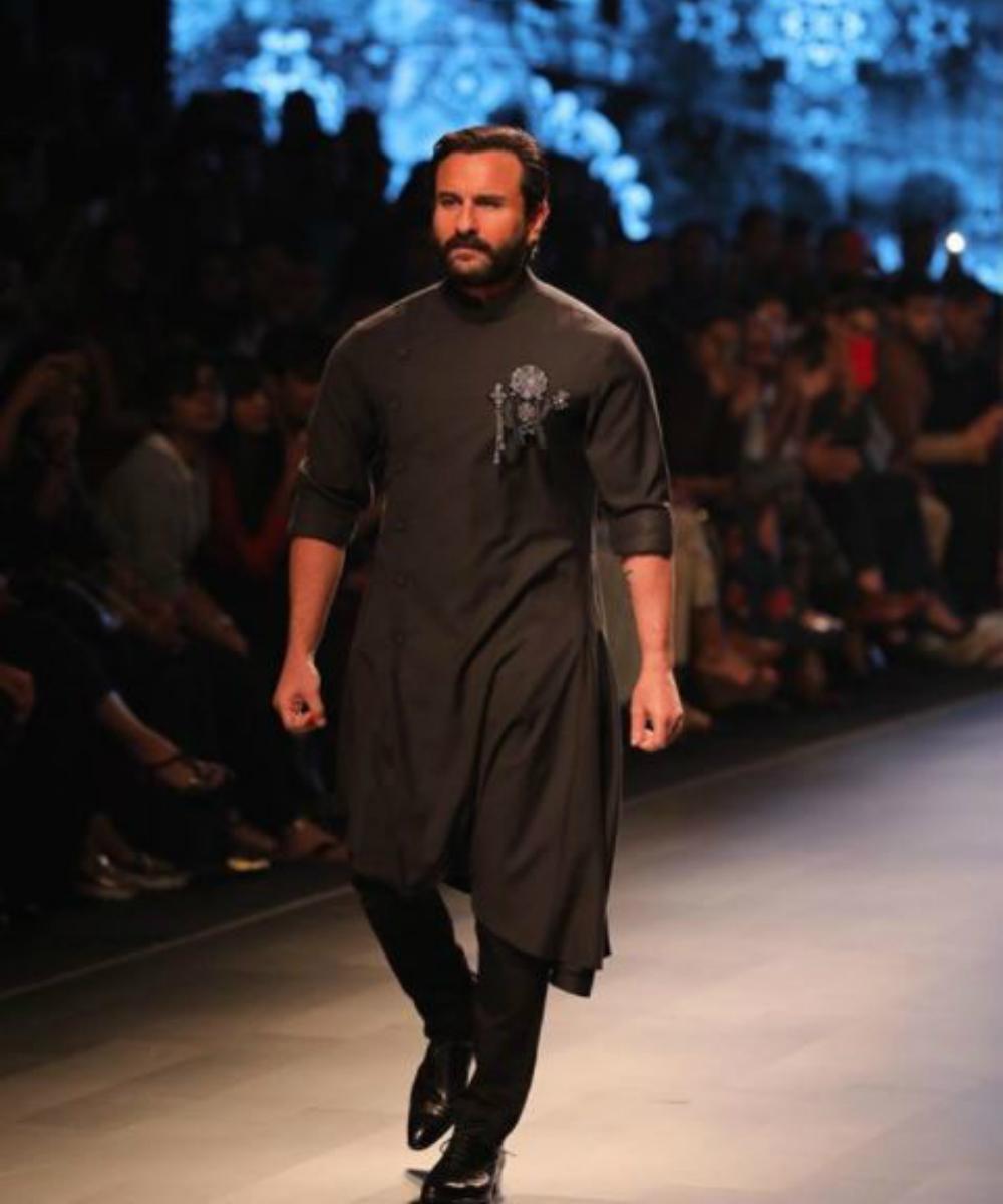 Saif ali khan fashion show 1