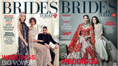 Sonam Kapoor Looks Absolutely Stunning in the Pics from her Latest Bridal Shoot for Brides Today Magazine's February Cover