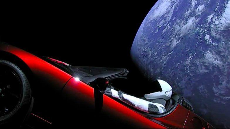 Check Stunning Photographs of Elon Musk's Red Tesla ...