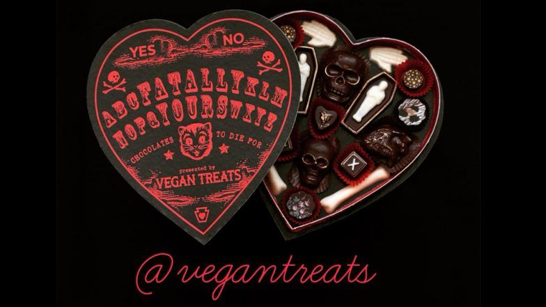 Valentine's Day Gift: Vegan Treats Selling Black Heart-Shaped Chocolate Box 'Fatally Yours' This Valentine
