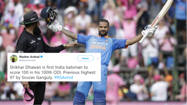 Shikhar Dhawan is First Indian to Score Hundred in 100th ODI, Twitterati Hail Gabbar of Indian Cricket