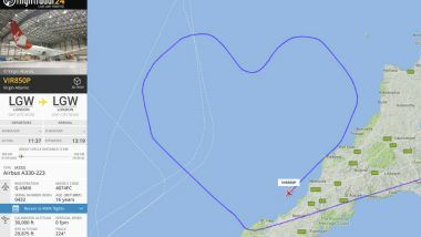 Valentine's Day 2018: Virgin Atlantic Flight Makes a Heart in the Sky on the Occasion of Love
