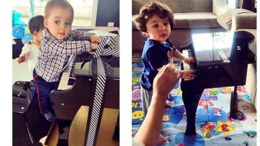 Taimur Ali Khan and Yash Johar's Cute Picture With a Piano Makes Karan Johar Call Them 'Future Musicians'