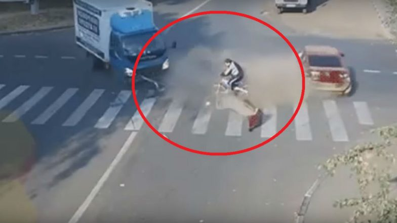 Video of Man Walking Away Unhurt Hit by a Truck Goes Viral: Here Are ...