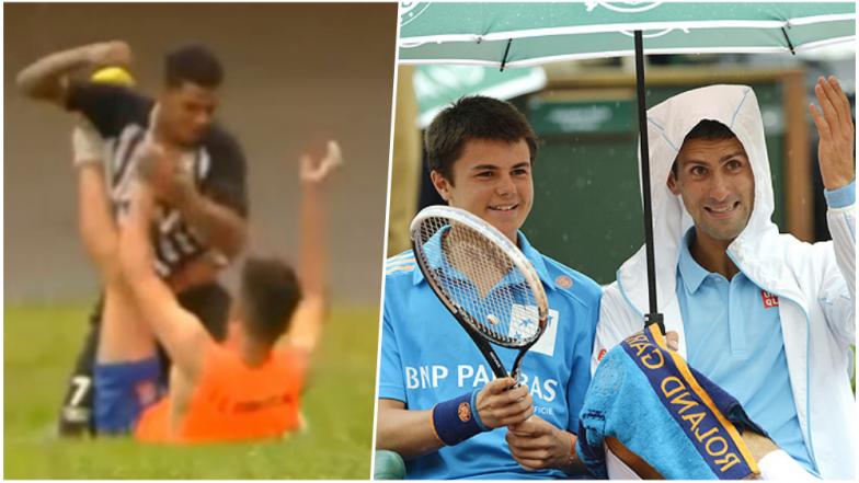 Brazilian Footballer Attacks Ball Boy in Horrific Manner: Mind Learning from Novak Djokovic on Treating Ball Boys Right! (Watch Videos)