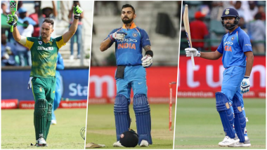 Meet Centurions of India vs South Africa ODI Series 2018: Virat Kohli Hit Three Tons; Rohit Sharma, Shikhar Dhawan & Faf du Plessis One Each