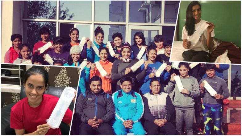 PV Sindhu, Babita Phogat, Saina Nehwal & Other Indian Female Sporting Icons Take up 'PadMan Challenge'