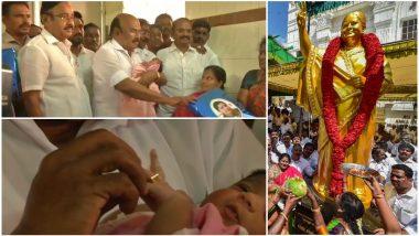 Jayalalithaa Birth Anniversary: Tamil Nadu Minister D Jayakumar Gives Gold Rings to Seven New-Born Babies