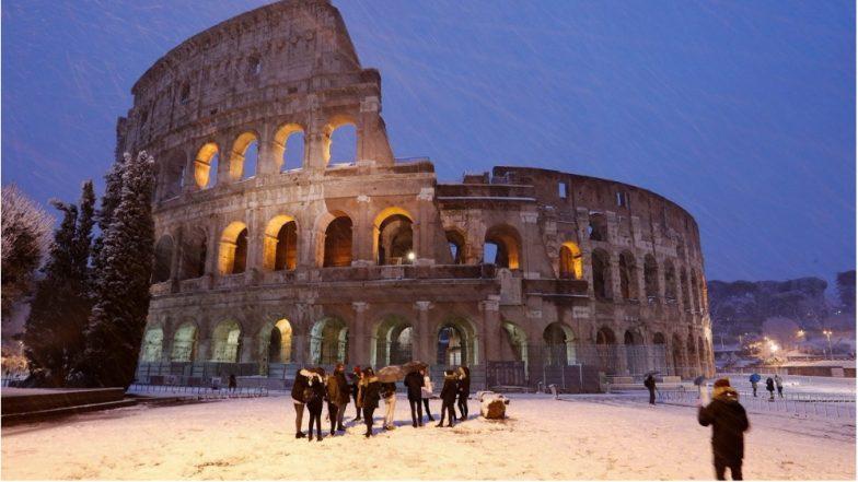 Arctic storm brings rare snowfall to Rome