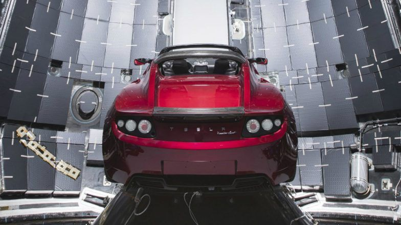 Video of Tesla Roadster In Space: SpaceX Successfully Launches Falcon Heavy Rocket with Elon Musk's Red Car & Driver 'Starman'