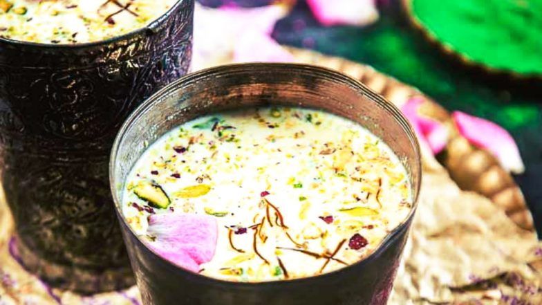 Holi Thandai Recipes: How to Make Bhang Drinks at Home and Enjoy the Spirit of the Festival of Colours