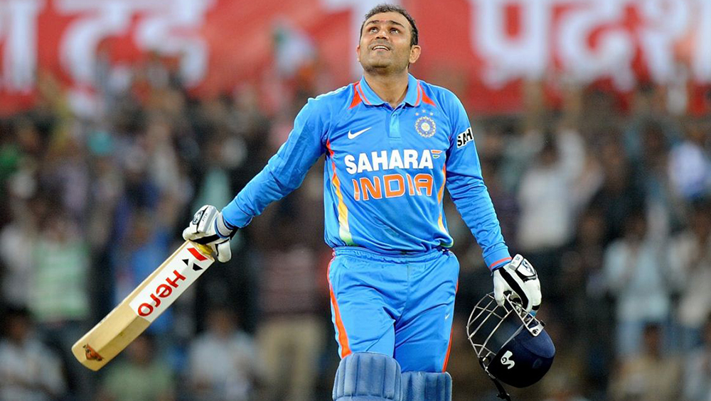 Sehwag spews fire on ice
