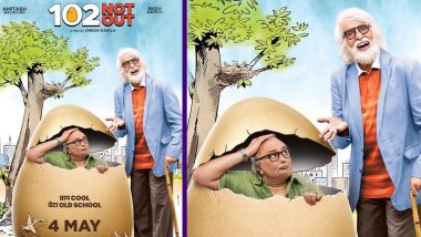 102 Not Out First Look: Amitabh Bachchan's Baap Cool Puts An Old School Beta Rishi Kapoor in An Egg