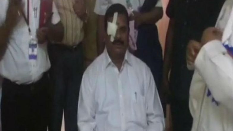 Telangana council chairman hospitalised after getting hit in eye by headphone