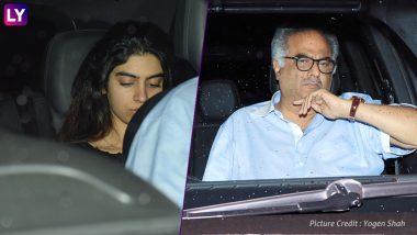 Khushi And Boney Kapoor Attend Hichki Screening – View Pics