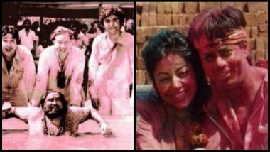 Bollywood Holi Parties: Rare Pictures of Rishi Kapoor, Shah Rukh Khan, Madhuri Dixit and Others Celebrating Holi That Will Make You Feel Nostalgic