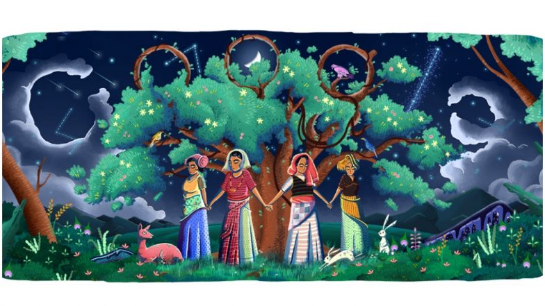 Google honours 45th Chipko Movement anniversary with a doodle