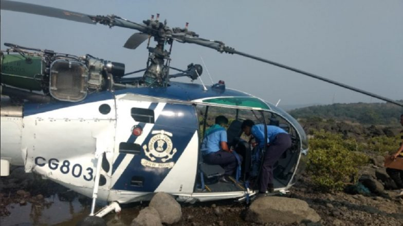 Maharashtra: Indian Coast Guard helicopter makes an emergency landing in Nandgaon