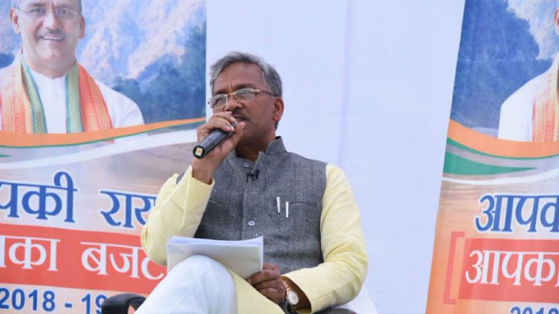 Uttarakhand CM Trivendra Singh Rawat Asks Slum Dwellers to Defer Thanksgiving Rally