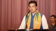 Tripura CM Biplab Kumar Deb Isolates Self as Two Family Members Test COVID-19 Positive, Awaits His Results